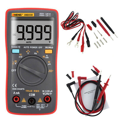 AN8008 True-RMS Digital Multimeter 9999 Counts Square Wave AC DC Voltage Ammeter