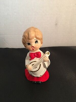 "Vintage Christmas Choir Boy with Accordian Figurine * Norcrest * Japan*4"" label"