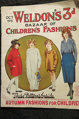 Weldon's Bazaar of Childrens Fashion 1919 No 462 with Pattern