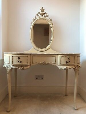 Harrods French Style Vintage Dressing Table Louis XV Cream Antique Retro