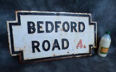 A Good Cast Iron Bedford Road Street Sign Liverpool Postcode 4