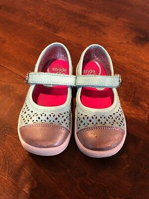 Stride Rite Girls Turquoise Poppy Mary Jane Shoes Size 7.5M (Toddler)
