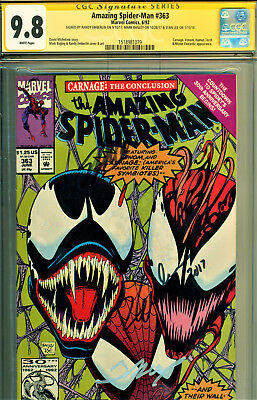 Amazing Spider-Man #363 Cgc 9.8 3X Ss By Stan Lee, Bagley, Emberlin-3Rd Carnage-