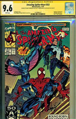 Amazing Spider-Man #353 Cgc 9.6 3X Ss By Stan Lee, Bagley, Emberlin-The Punisher