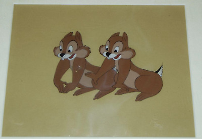 Original Vintage 1950s WALT DISNEY Production Cel 'CHIP & DALE' CHIP & CHIP