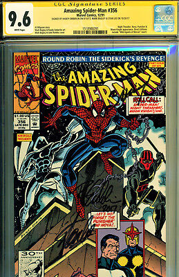 Amazing Spider-Man #356 Cgc 9.6 3X Ss By Stan Lee, Bagley, Emberlin-The Punisher