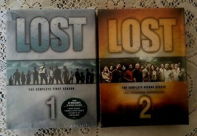 LOT OF TWO LOST~The Complete First and Second Season DVD Set~NEW/SEALED~FREE SHP