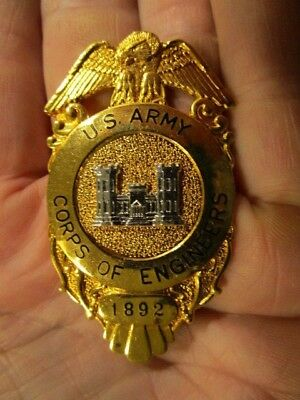 Original US Army Corps of Engineers Serial Numbered Badge ~ HIGH QUALITY BADGE