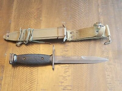 Colt Marked M7Bayonet 62316 With Correct M8A1 Crackle Scabbard