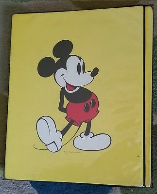 1960s-1970s Era Mickey Mouse Vinyl Trifold Notebook