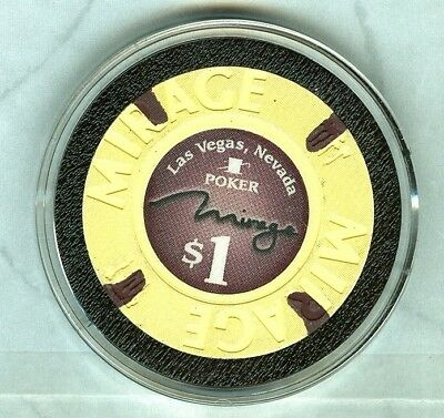 MIRAGE CASINO (LAS VEGAS) $1 POKER ROOM CHIP (2013) (UNC-NEW) (D1118).xls