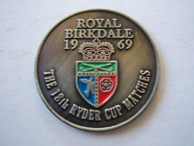 "Historic 1969 Ryder Cup (1St Tied Result) 1"" Coin  Golf Ball Marker- R. Birkdale"