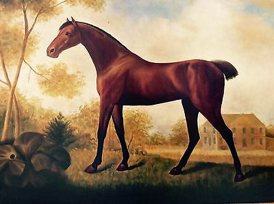 Vintage Maitland Smith Hand Made Frame Horse Painting Artwork Art Holiday Offer