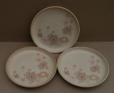 Denby Coloroll Maplewood / Sandalwood Tea / Side / Bread And Butter Plates X 6