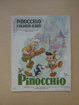 Pinocchio Album Sheet Music By Walt Disney Excellent For Age