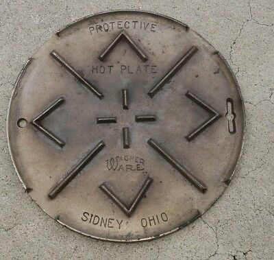 Wagner Ware protective hot plate cast iron no damage or cracks