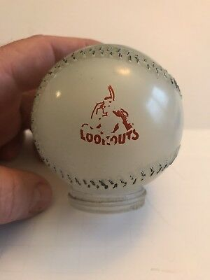 Vintage Chattanooga Lookouts / Pegasus Gas Glass  Candy Container 1940-1950s ?