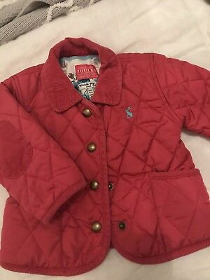 0bcdddb46 Joules Pink Mabel Baby Girls Quilted Jacket With Corduroy Collar BNWT