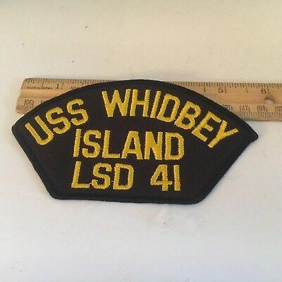 """Us Navy Cap Patch """"uss Whidbey Island  """"lsd-41"""