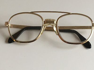 Vintage AIRCO EyeGlass Frames-Gold-Made in USA-Safety Glass Frames
