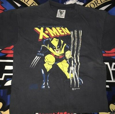 vtg marvel xmen wolverine t shirt 1992 kids Large