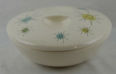 Franciscan Atomic Starburst MCM Mid Century 1.5 Quart Covered Casserol3 Serving