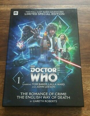 Doctor Who Tom Baker THE ROMANCE OF CRIME ENGLISH WAY OF DEATH Big Finish CD set