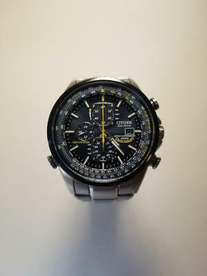 Men's Citizen Eco-Drive AT8020-54L Blue Angels Stainless Steel Watch