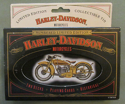 Harley-Davidson Playing Cards Limited Edition in Collectible Tin Two Decks New
