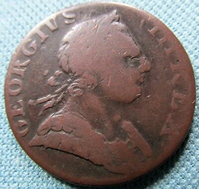 1773 King George III British US Colonial Halfpenny - Detailed Non Regal Unknown
