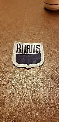 Burns uniform insignia patch