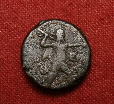 ATTICA Athens. Athena and Zeus  hurling thunderbolt. Scarce this nice.Greek Coin