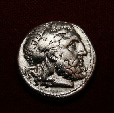 Zeus.Philip II Tetradrachm Father of Alexander the Great.Ancient Greek coin