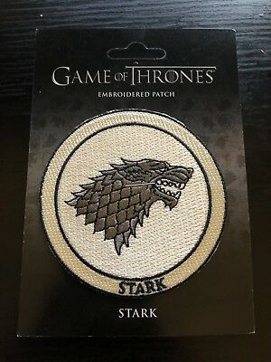 Game Of Thrones Embroidered Patch Stark