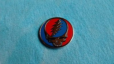 Grateful Dead Steal Your Face SYF 1.25 Inch Gold Metal Metallic Sticker
