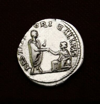 HADRIAN as Restorer of Gaul Denarius RESTITVTORI GALLIAE. Roman imperial coin