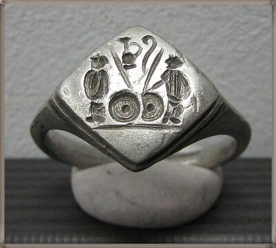 ** GAIUS and LUCIUS CAESAR **Ancient Silver Legionary Roman Ring **AMAZING **