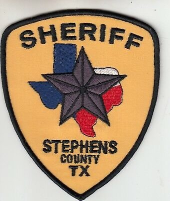 Stephens County Sheriff Texas Tx Police Patch