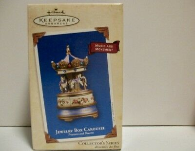 Hallmark Keepsake Jewelry Box Carousel, 2003 - Music & Movement, NIB