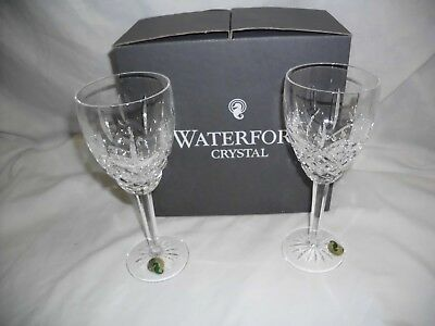 Waterford Crystal Golden Araglin Goblets - New In Box - Set Of 2