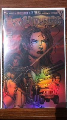Witchblade #50 Near Mint Super Rare Df Chrome Edition Signed Paul Jenkins Coa