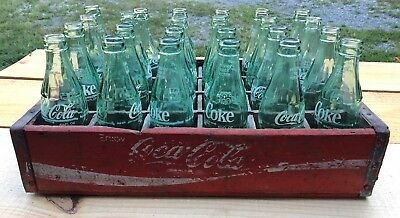 Vintage Coca Cola Red Crate With 24 Bottles