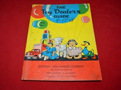Original 1958-1959 Toy Dealers Guide From Universal Merchandise Co. - No Reserve