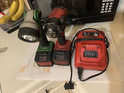 "Snap-On CT8810A  3/8"" 18v Impact Wrench - And Snap-on Hand Held Light CTLED8850G"