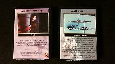Babylon 5 B5 CCG Wheel of Fire Common/Uncommon C/UC NM/Mint Full Complete Set