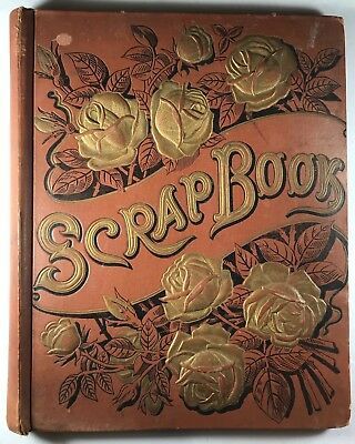 Antique Late 1800s Victorian Scrapbook Die Cuts Trade Cards Greeting Cards