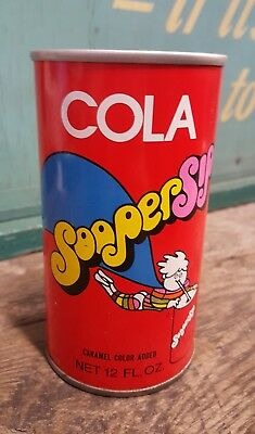 Vintage Sooper Sip Cola Tin Can Chicago Illinois Very Rare