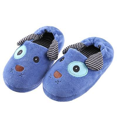 Toddler Boys Girls Doggy Slippers Soft Plush Warm Non-Slip Winter House Shoes