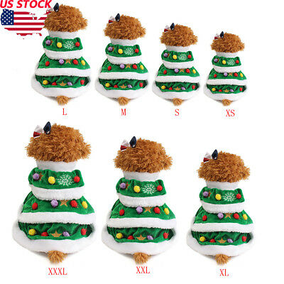 Pet Puppy Dog Christmas Soft Clothes Santa Claus Costume Outwear Coat Outfit