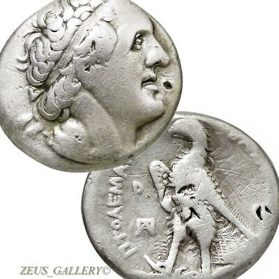 PTOLEMY I Soter.Signed Δ Delta Master Rare Tetradrachm Ancient Greek Silver Coin